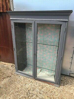 Upcycling Project Grey Glass Fronted Display Cabinet Cupboard
