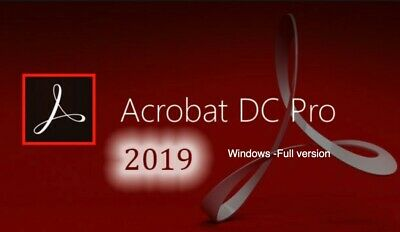 Adobe Acrobat Pro DC 2019 & Activated & instant Delivery for windows