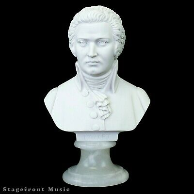 Mozart Composer Bust /Statue /Figurine Crushed Marble - Various Sizes
