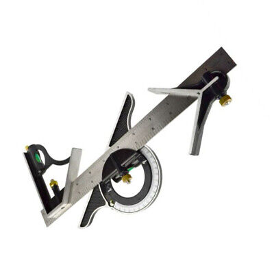 Square Head Protractor Ruler Support Stainless steel Combination Practical