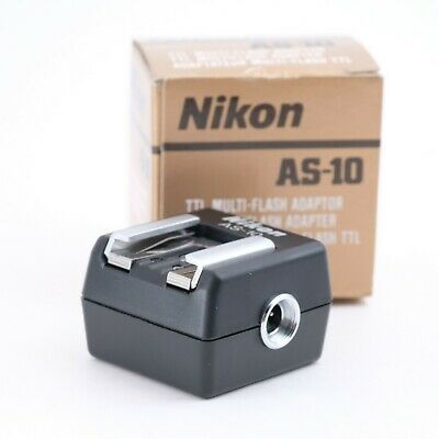 """""""Boxed Mint"""" Nikon AS-10 TTL Multi-Flash Adapter Shipping from Japan"""