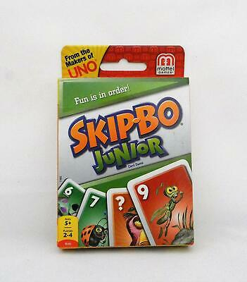 Mattel Games Skip Bo Uno Junior Kids Adults Sequence Card Game Family Night Play