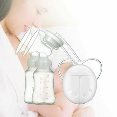 NEW Electric Hand Free Breast Pump Automatic Double Intelligent Baby Feeder USB.