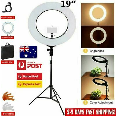 "19"" ES240 5500K Dimmable Diva LED Ring Light W/ Diffuser Stand Make Up Studio RT"
