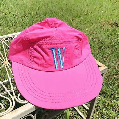 Vintage 90s Promo Winston Racing Long Bill Hat Hot Pink NWOT Made In USA 5 Panel