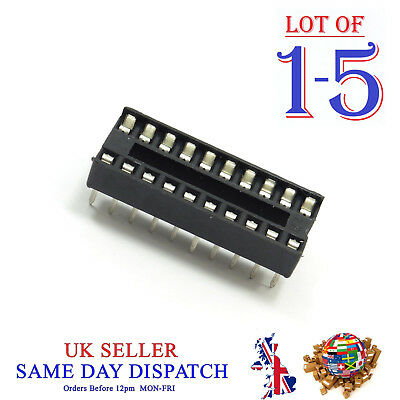 DIP20 / DIL20 IC Socket 20 Pin PCB Adapter Connector Standard