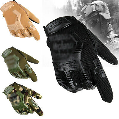 Tactical Knuckle Full Finger Gloves Men's Military Army Airsoft Paintball