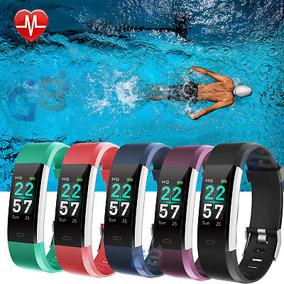 Sports Fitness Tracker Watch Waterproof Heart Rate Monitor STEP COUNTER Swimming