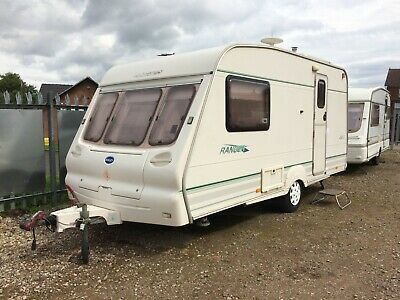 ABBEY COUNTY * 2 BERTH LIGHTWEIGHT CARAVAN * with PORCH AWNING *