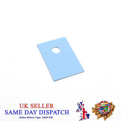 TO-220 SILICONE Pad Transistor Insulation Sheet Insulator Heat Resist 13x19mm