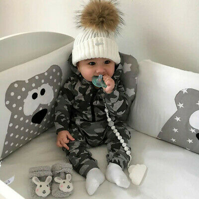Toddler Kid Infant Baby Children Boy Girl Hooded Romper Jumpsuit Clothes Outfits