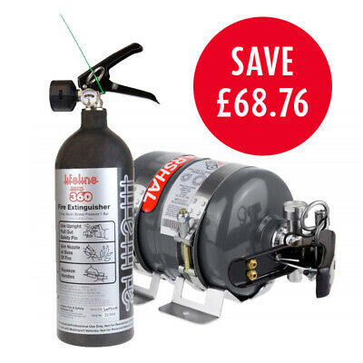Lifeline Rally Pack Zero 360 3Kg Gas Mechanical Car Fire Extinguisher With 2Kg