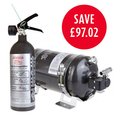 Lifeline Rally Pack Zero 360 3kg Gas Electrical Car Fire Extinguisher Plus 2kg