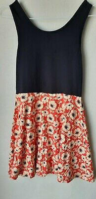 Kids Girls dress Next sleeveless floral print jersey 9 years navy blue