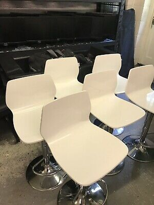 Restaurant Tables, chairs & Bar Stools in white gloss excellent quality