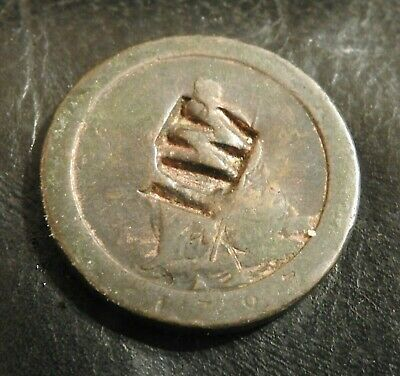 1797 cartwheel penny - stamped with a W