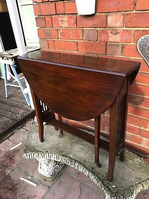 Antique Victorian Mahogany Small Drop leaf Sutherland Table