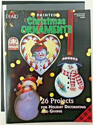Painted Christmas Ornaments Book Plaid Decorative Painting Tole FolkArt Pattern