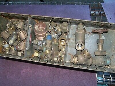 Lot 83 Mixed 2 Valves+81 Brass Copper Fittings EL*T*Union*Flared++++ Steam Punk