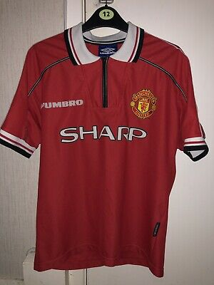 Manchester United 1998 1999 Retro Football Shirt Man Utd Original Not Remake!