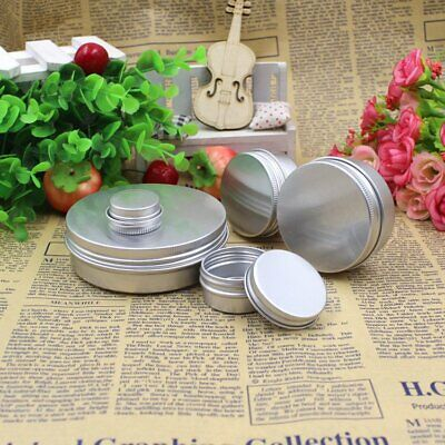 5- 100 ml Aluminium Empty Cosmetic Pot Lip Balm Jar Tin Container Box PB