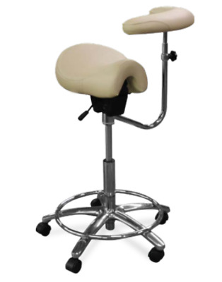 New Galaxy 2045-R Contoured Assistant's Stool Fixed Foot Rest Ratcheting Mech