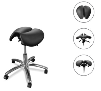 New Galaxy Model 2090 Saddle Seat Doctor's Stool w/ Two Halves