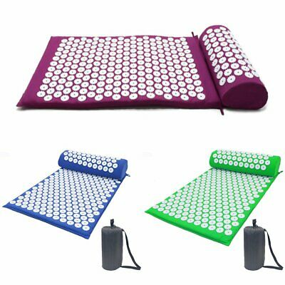 Acupressure Massage Pillow Mat Yoga Bed Pilates Nail Needle Pressure + Pillow PB