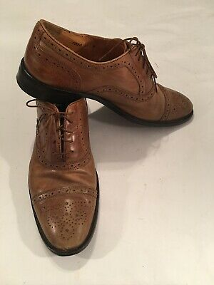 b86b40aab59ac VINTAGE MENS MERCANTI Fiorentini Leather Shoes Size 11 M Cuoio Italy captoe