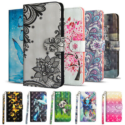 For Xiaomi Redmi 7 8 Note 8T 7 6 Flip Painted Leather Case Magnetic Wallet Cover