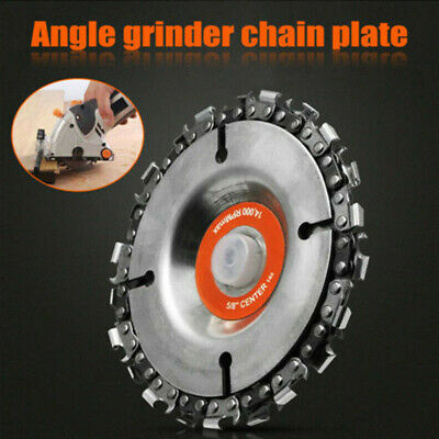 "Grinder Disc 4"" Angle 22 Tooth Saw Blade Chain Saw Wheel Carving Wood Plastic UK"