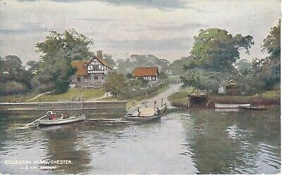 Cheshire Eccleston Ferry Lnwr Card Posted 1907
