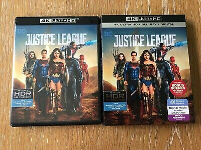 Justice League 4K (2018 4K UHD + Blu-Ray + Slip) USED *NO CODE*