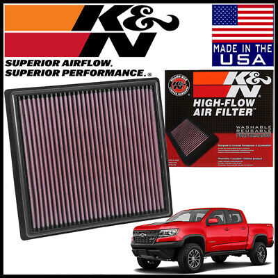 K&N Replacement Air Filter fits 2015-2019 Chevy Colorado 2.5L / 2.8L / 3.6L