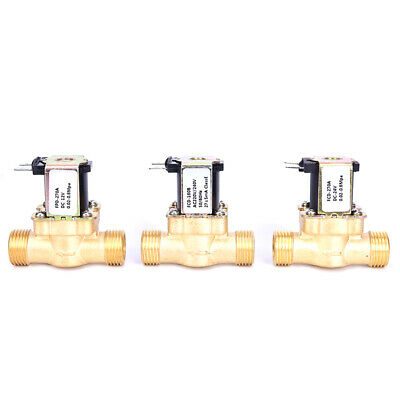 1/2in Solenoid Valve Water Valve AC 220V Electric Valve Normally Closed Brass ^S