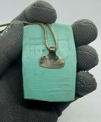 Rare Perfect Ancient Silver Pendant  Amulet Suspension Viking 9-11 A.D +GIFT#286