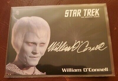 Star Trek TOS 50th Anniversary - Silver Autograph Card of William O'Connell