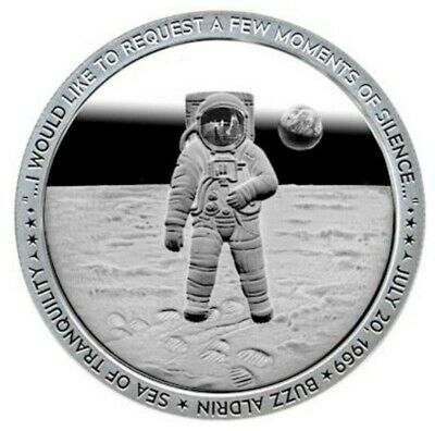 """Apollo 11 """"MOMENT OF SILENCE"""" Coin 1oz .999 Fine Silver Proof Like ~~IN-HAND~~"""