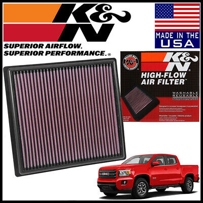K&N Replacement Air Filter fits 2015-2019 GMC Canyon 2.5L / 2.8L / 3.6L
