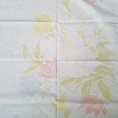 Vintage Pillowcase Sears Perma Prest Percale  King Floral Tulips Yellows Pinks