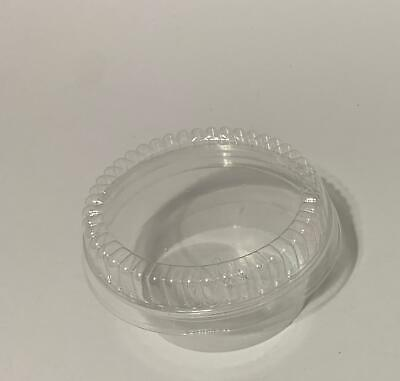 Pack 100 Qty FOOD CONTAINERS  are of clarified polystyrene,5 OZ. CLEAR