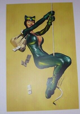 2015 SDCC CATWOMAN ART PRINT SIGNED BY BRANDON PETERSON 11x17