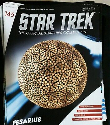 Star Trek Eaglemoss Issue 146 Fesarius model with Magazine