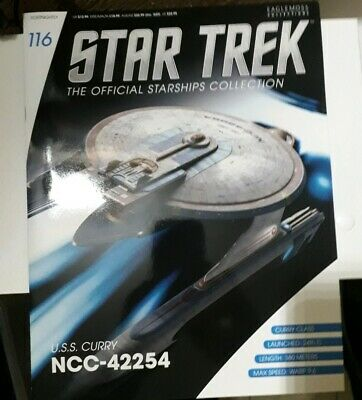 Star Trek Eaglemoss Issue 116 USS CURRY  model with Magazine