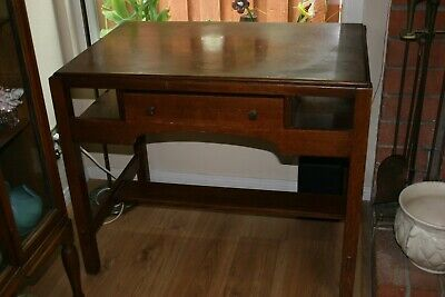 Vintage Signed Arts and Crafts Limbert Mission Oak Craftsman Desk