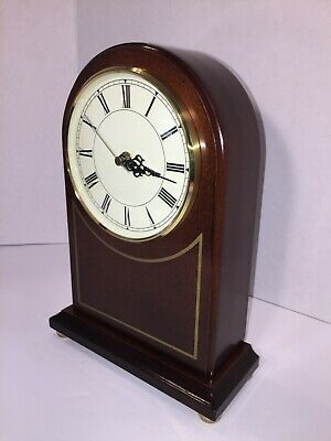 Classic Bombay Quartz Mantel Clock Japan movement, Dark Brown Walnut /Alder Case