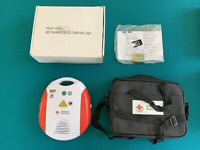 American Red Cross AED Defibrillator Trainer - NEW w/ CARRYING CASE - SHIPS FREE