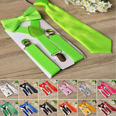 Suspenders Bow Tie Necktie Children Toddler Accessory Formal Party Classical