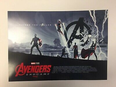 Avengers Endgame IMAX/AMC Theaters Week 2 Poster Brand New Rare Marvel