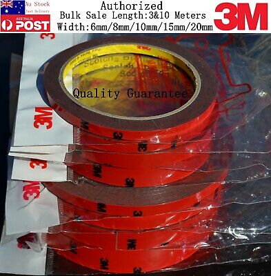AU Genuine 10M Meter Double Sided Automotive Adhesive 3M Tape 6mm 8mm 10mm 15mm